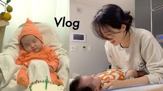Vlog  50일아기의 첫 #카시트 타기(꿀잠!!) |…