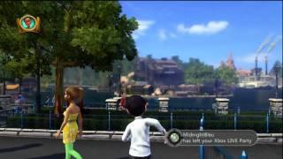 Disneyland Adventures Xbox 360 Kinect free roam HD gameplay Goofy Aladdin Baloo Tiana