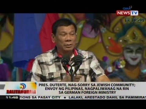 BT: Pres. Duterte, nag-sorry sa Jewish community