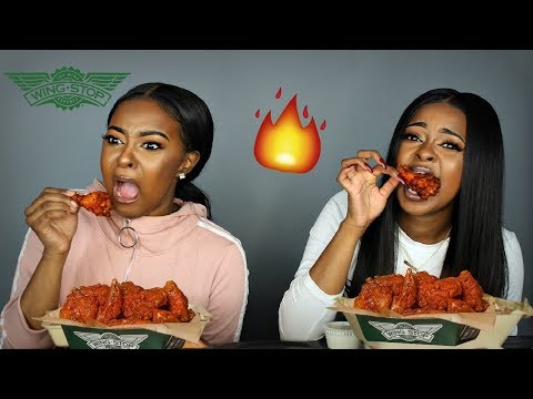 EXTREMELY HOT 🔥🔥 ATOMIC HOT WING WINGSTOP CHALLENGE | Pitts Twins