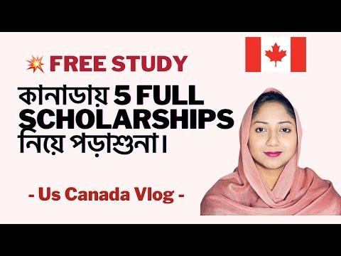 Free Study In Canada For International Students - 5 Scholarship 2020-21@US Canada VLOG#studyincanada