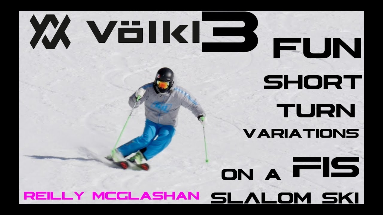 Three FUN skiing short turn variations on FIS Slalom skis - Reilly McGlashan