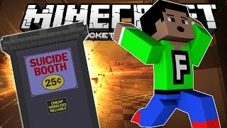 SUICIDE BOOTH!!!! - Dumb Ways To Die - Minecraft PE (Pocket Edition)
