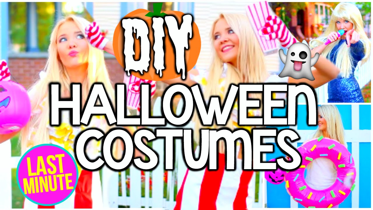 DIY Last Minute Easy u0026 Cheap Halloween Costume Ideas for Teens! - YouTube  sc 1 st  YouTube : easy halloween costume ideas teens  - Germanpascual.Com