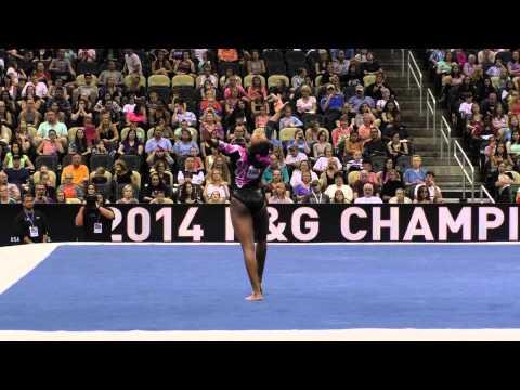 Nia Dennis – Floor – 2014 P&G Championships – Jr. Women Day 2