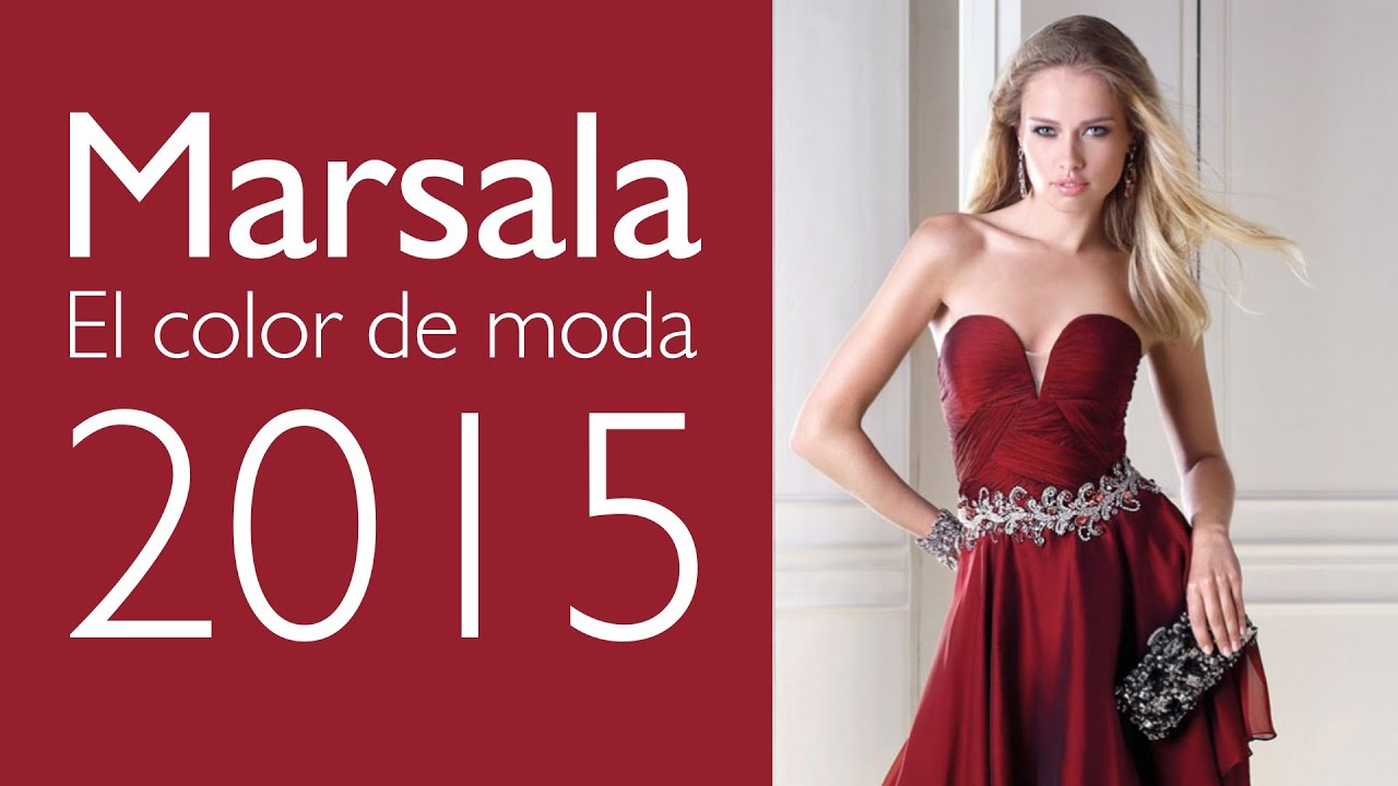 Trajes De Fiesta En Marsala El Color De Moda En 2015