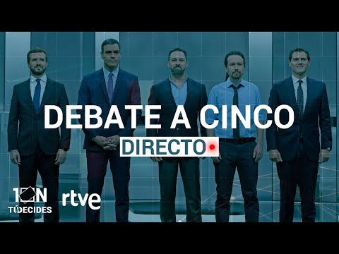 Debate a cinco en directo