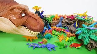 [고미플레이] 자이언트 티렉스와 공룡메카드 공룡들 모두 모여라.