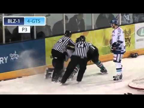 Ben O'Connor vs Bobby Robins EIHL fight 14-1-09