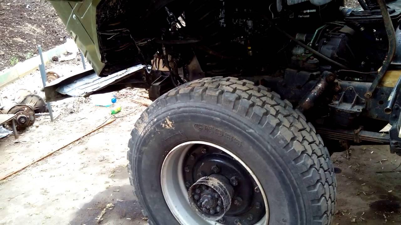 ГАЗ 66 На Больших Колесах По Болотистой Местности - YouTube