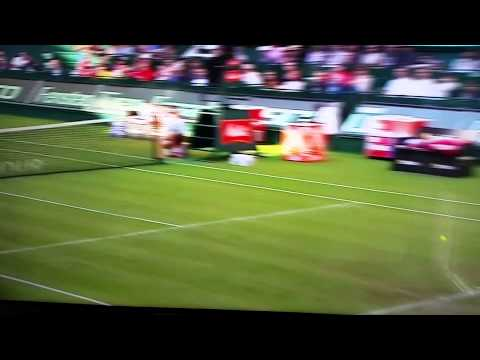Incredible point by Roger Federer at Halle