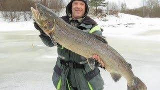 Ловля лосося. Экстрим рыбалка.