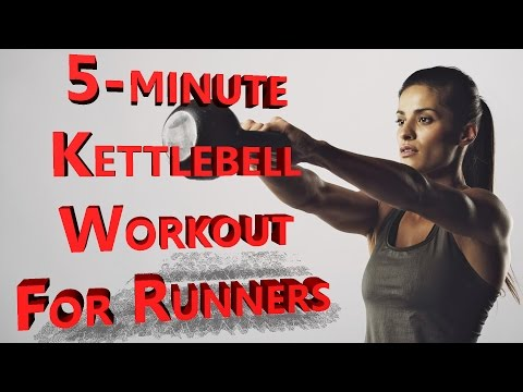 5-MINUTE KETTLEBELL WORKOUT FOR RUNNERS✔