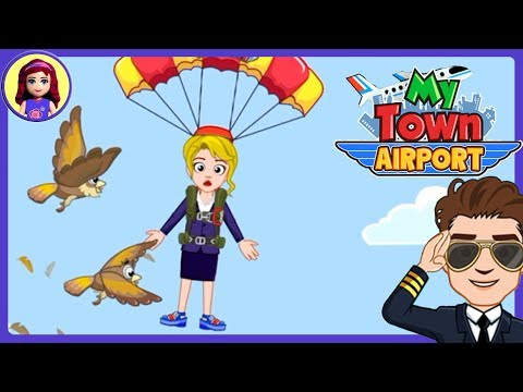 My Town : Airport App Silly Gameplay with Millie & Me Kids Toys