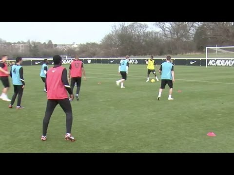 Keep possession and create overloads in midfield   Football tactics   Nike Academy