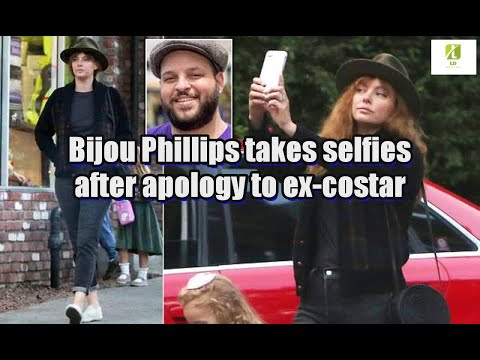 Bijou Phillips takes selfies after apology to ex-costar