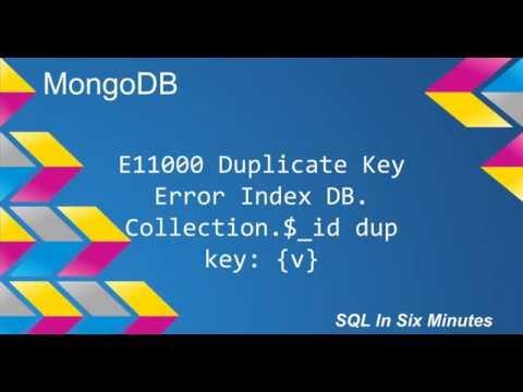 MongoDB: E11000 Duplicate Key Error Index: Database.Collection.$_id Dup Key { v }