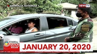 State of the Nation with Jessica Soho Express: January 20, 2020 [HD]