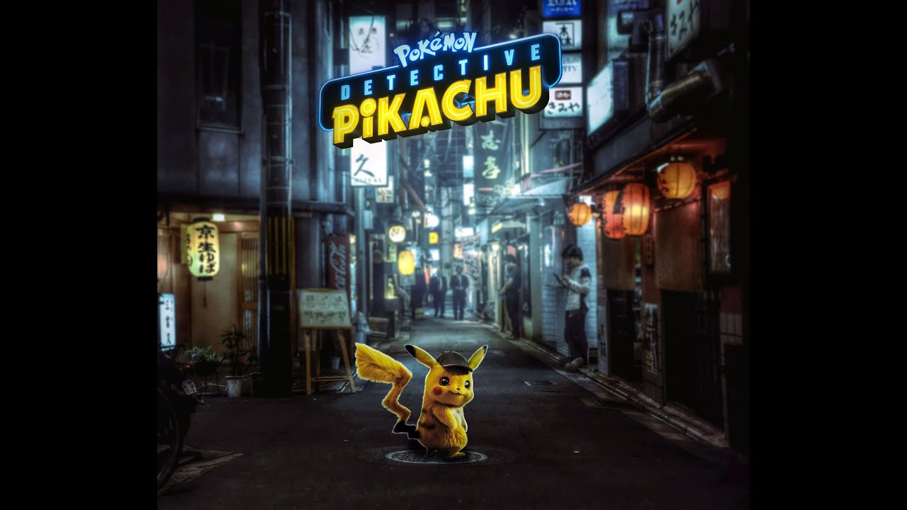 Detective Pikachu manipulation edit Adobe Photoshop CC