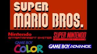 Super Mario Bros NES vs SNES vs GBC vs GBA