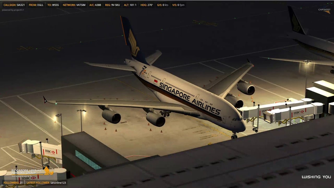 [P3Dv4 1] PA A380 | VATSIM | SIA321 | Departure from London Heathrow