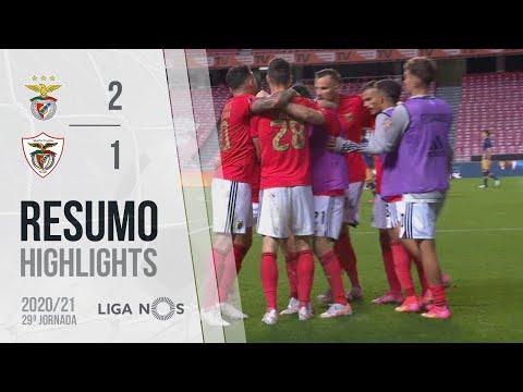 Highlights | Resumo: Benfica 2-1 Santa Clara (Liga 20/21 #29)