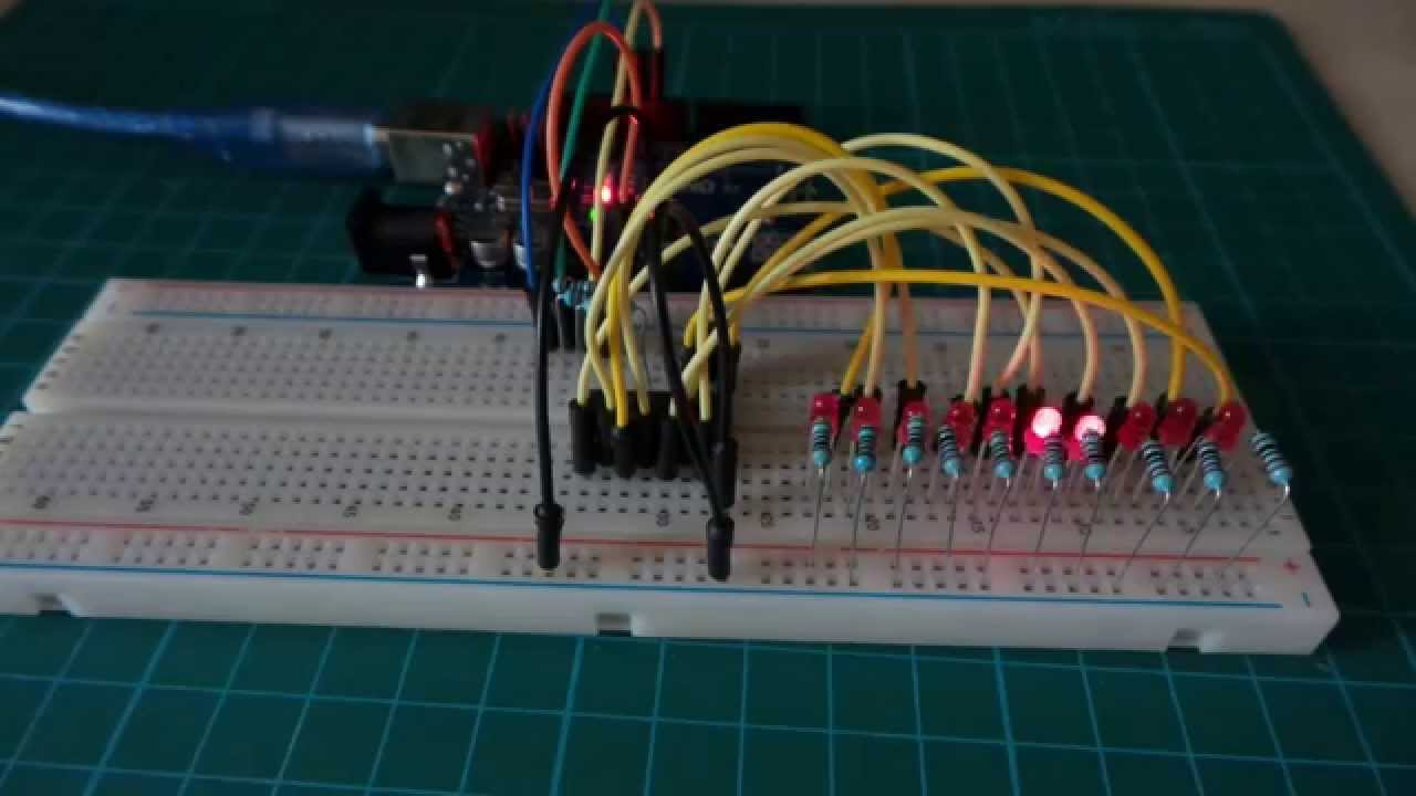 Controlling A Ring Counter With An Arduino Leap108 Youtube Circuit Diagram