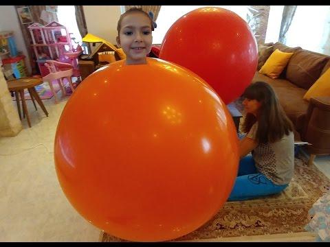 DEV BALONA GİRME, 2 metre çapındaki balona girmeye çalıştık, beceremedik,peste etmedik, çocuk