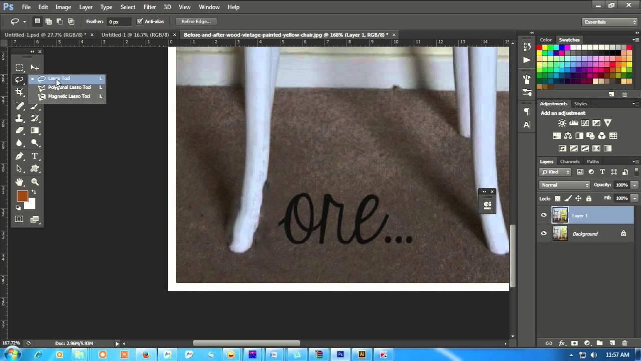 Cara Menghilangkan Watermark Dengan Photoshop Youtube