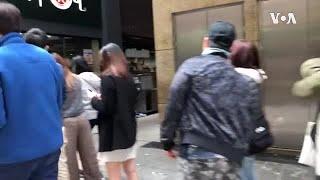 香港黄店遭损毁民众排长队消费表支持
