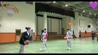 [아스트로] 엠제이 라키 산하 농구공넣기