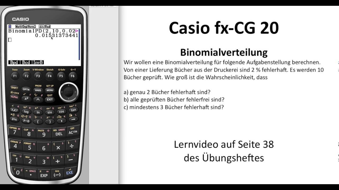 Taschenrechner Casio Fx-cg 20 GTR