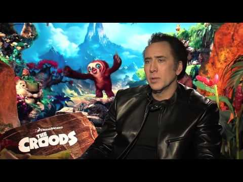 Nicolas Cage - Interview for 'The Croods' (2013)