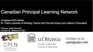 CPLN Podcast Claire Lapointe on Building Teams that Promote Equity and Justice in Education