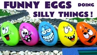 Funny Surprise Eggs | Thomas and Friends | Shark Attack TMNT Spongebob Mickey Mouse Avengers