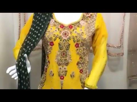 Stunning Readymade Indian Pakistani Mehndi Wedding design sharara style