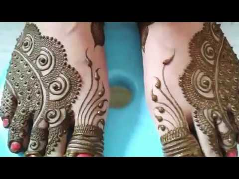 Latest feet mehndi designs for bride