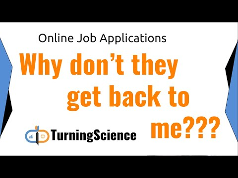 Why you can't find a job (Online Job Applications)