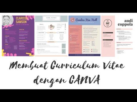Membuat Curriculum Vitae Yang Menarik Dengan Canva Tutorial Youtube