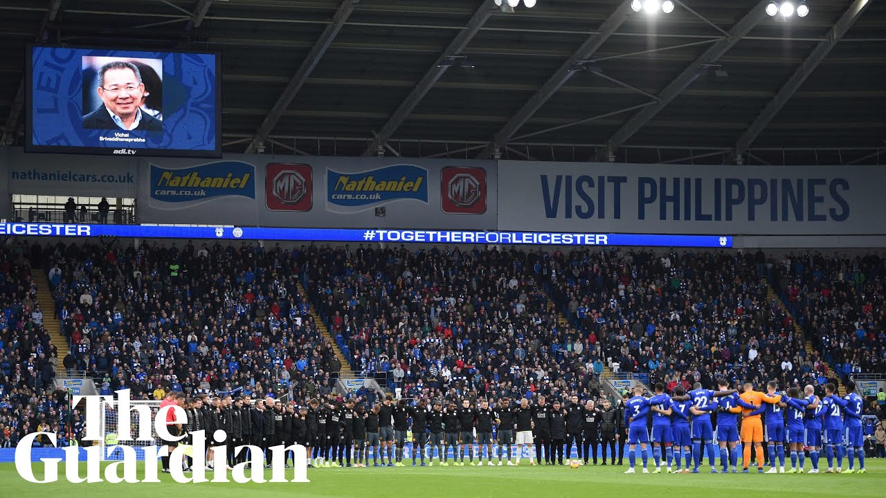 Vichai Srivaddhanaprabha: tributes made to Leicester owner at Cardiff City  – video