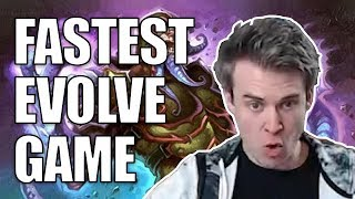 (Hearthstone) Fastest Evolve Game Ever!