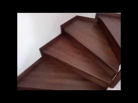 Бетонная лестница. Пример финишной отделки