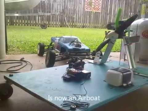 RC Nitro Airboat 2011 ''Hydroplane'' (Prototype 1) - YouTube