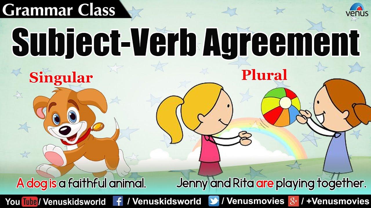hight resolution of Grammar Class ~ Subject - Verb Agreement - YouTube