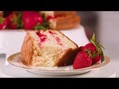 Strawberry Swirl Cream Cheese Pound Cake | Southern Living