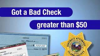 Bad Check Unit Can Help You