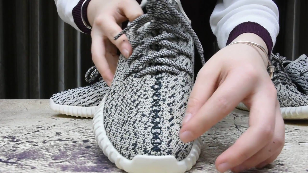 b4504a1fc40ca Real Vs Fake Adidas Yeezy Boost 350 Turtle Dove - YouTube