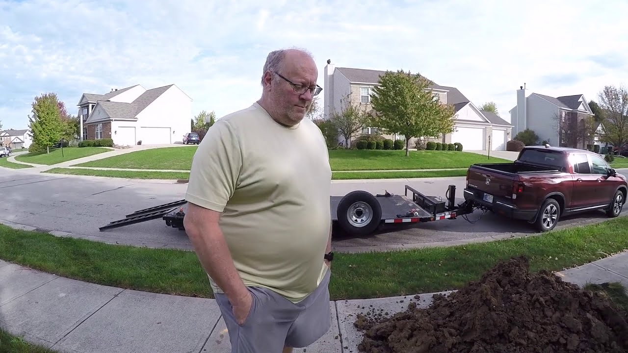 Sump Drain Surgery: Compact Tractor & Backhoe Dig Sump Drain Looking For  Roots Or Fiber Optic Cable  Tractor Time With Tim 14:35 HD