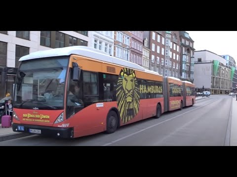 Triple Articulated Buses in Hamburg, Germany!! Bi-Gelenkbusse in Hamburg, Deutschland 2017