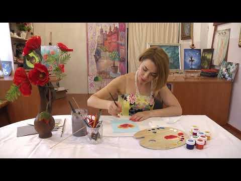 Телеканал UA: Житомир: Вчимося вдома: Малюємо мак_Ранок на каналі UA: ЖИТОМИР 15.08.19